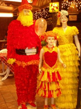 Cabbages and Condoms - Christmas outfits with an AIDS awareness theme
