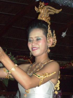 Traditional Thai dancer onboard the Loy Nava