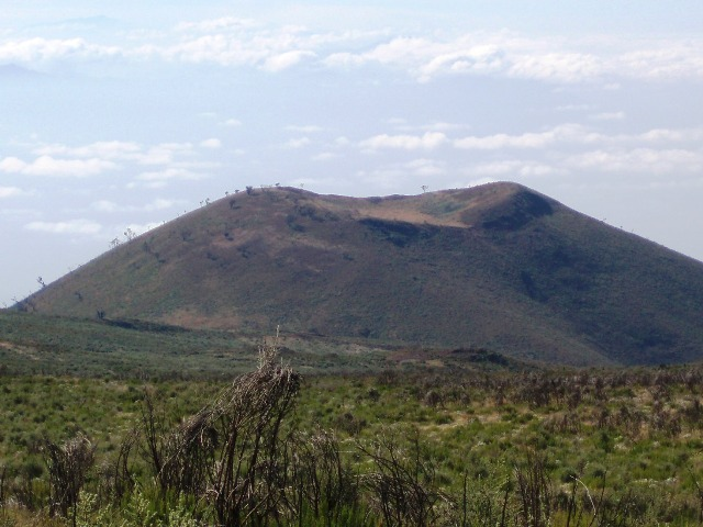 Sacrifice Hill - a parasitic cone on the flanks of Kilimanjaro